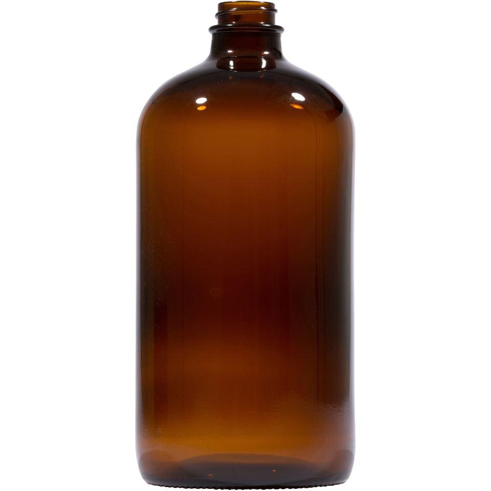5952045c24311 1000ML AMBER GLASS ROUND 28-400