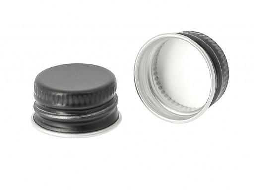 DIN18 18mm Aluminium Cap BLACK