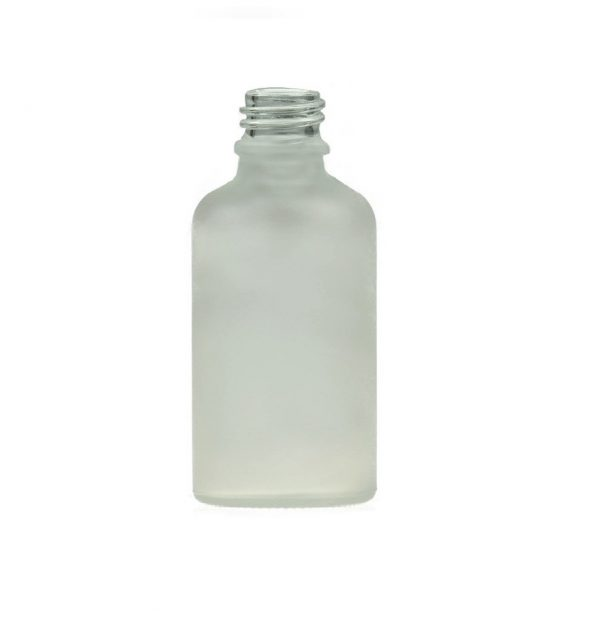 30ML FROSTED WHITE GLASS ROUND NECK DIN18