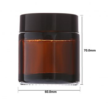 120ML AMBER GLASS CREAM JAR WITH LID