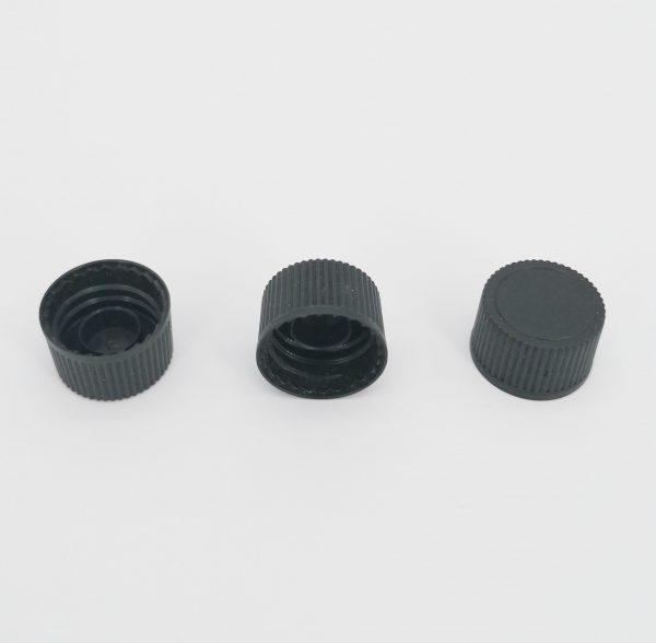 DIN18 NON-T/E Screw Cap WHITE/BLACK - PACK OF 400 (BLK)