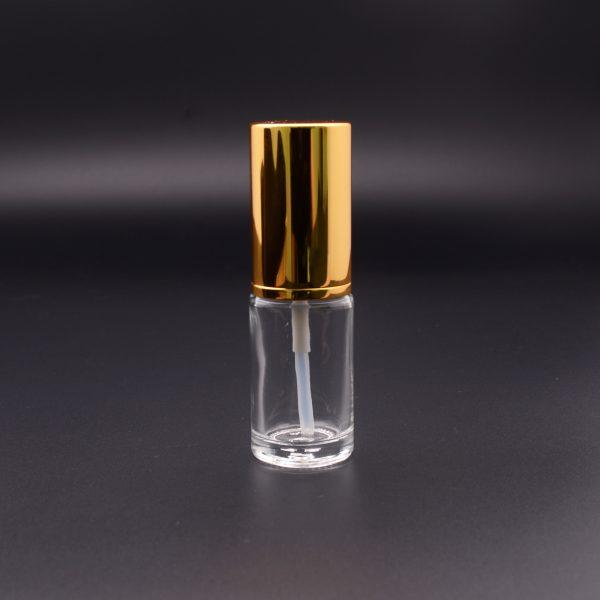 Clear perfume bottles